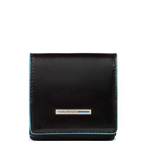 Piquadro PU2634B2 Portamonete, Collezione Blu Square, Nero