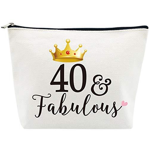 40 and Fabulous Makeup Bag, Canvas Purse