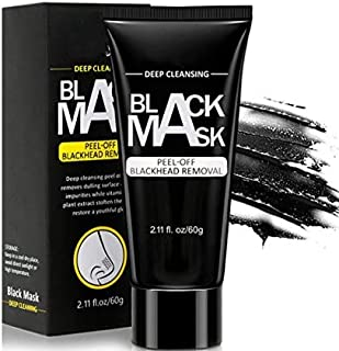 OCEANLUX Blackhead Remover Mask, Charcoal Peel Off Mask, Deep Cleansing Black Mask, Activated For All Skin