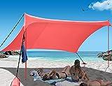 Easierhike Family Beach Sunshade Tent UPF50+ UV...