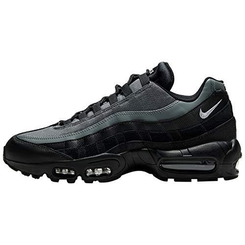 Nike Air MAX 95 Essential, Zapatillas para Correr Unisex Adulto, Black White Smoke Grey, 44 EU