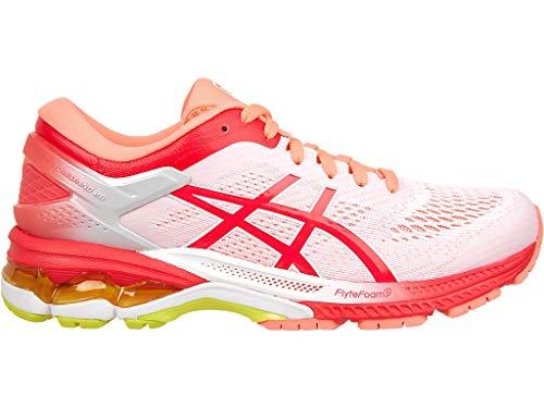 ASICS Women's Gel-Kayano 26 Kai Running Shoes 1011A636, 11.5M, White/Laser Pink