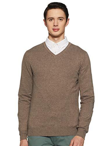 Celio Men's Sweater (3596654406529_Light Brown_M)