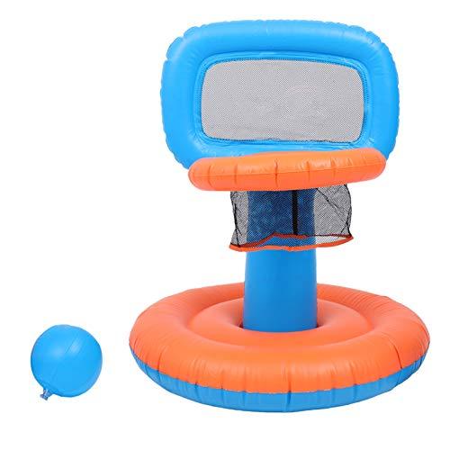 TOYANDONA 1 Juego de Aro de Baloncesto para Piscina Juego de Aro de Baloncesto Inflable Flotante de Playa de Agua Juego de GOL para Niños Adultos