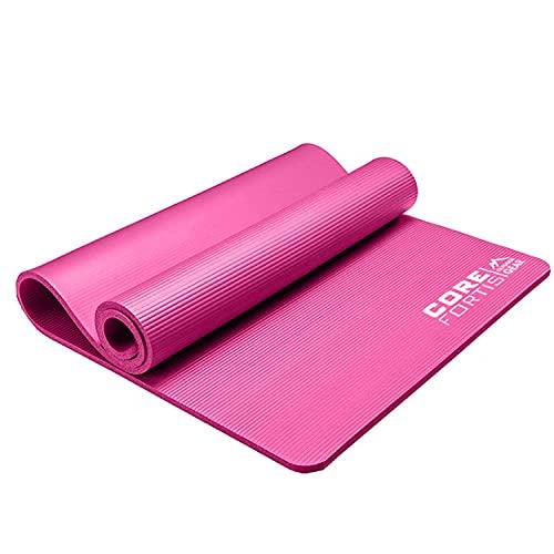 Esterilla de yoga para fitness, ecológico, antideslizante, con correa de transporte, para yoga, pilates, gimnasia, color rosa, talla única