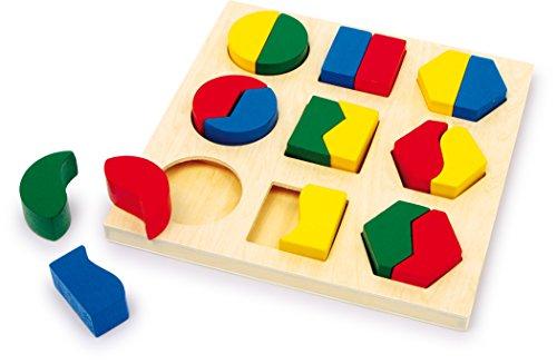 small foot 1600 Steckpuzzle Formen Pärchen aus Holz, mit 9 verschiedenen Mustern