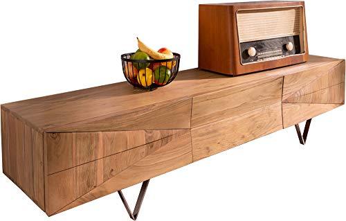 Preisvergleich Produktbild DELIFE Designer-Lowboard Wyatt 175 cm Akazie Natur 1 Klappe