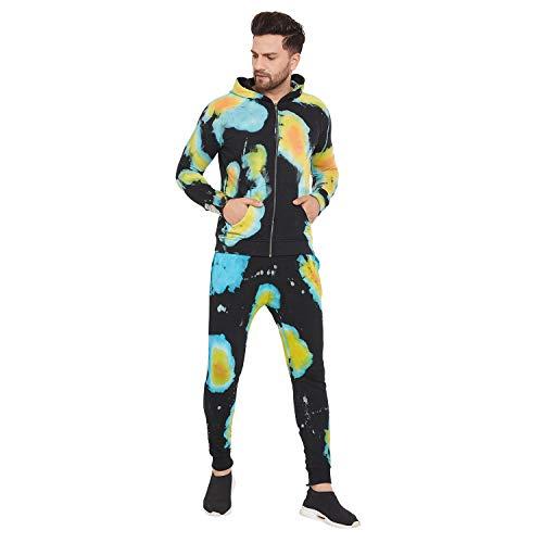 Fugazee Men's Heat Map Over Dyed Sweatshirt and Joggers Combo Tracksuit
