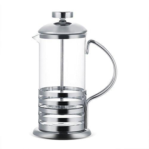 Tetera-Cafetera de vidrio de acero inoxidable Filtro francés Té Cafetera Prensa Émbolo