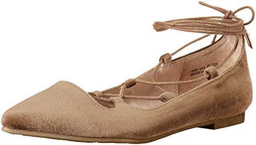 Chinese Laundry Women's Endless Summer Ghillie Flat, Camel Suede, 5 M US