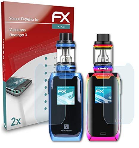 atFoliX Película Protectora compatible con Vaporesso Revenger X Protector Película, ultra claro y flexible FX Lámina Protectora de Pantalla (Set de 2)