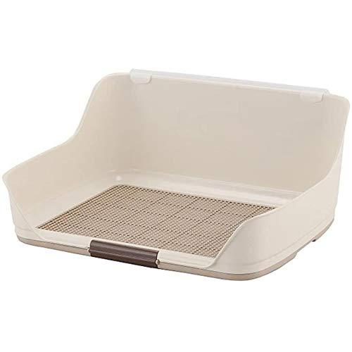 YYQQ Portable Indoor Dog igienici Holder Alta Protezione Pad, con Muro Protezione da Ogni Parte for No Leak, Spill, Keep Paws secca e Pavimenti puliti (Color : White, Size : S (51.2 * 40.5 * 26cm))