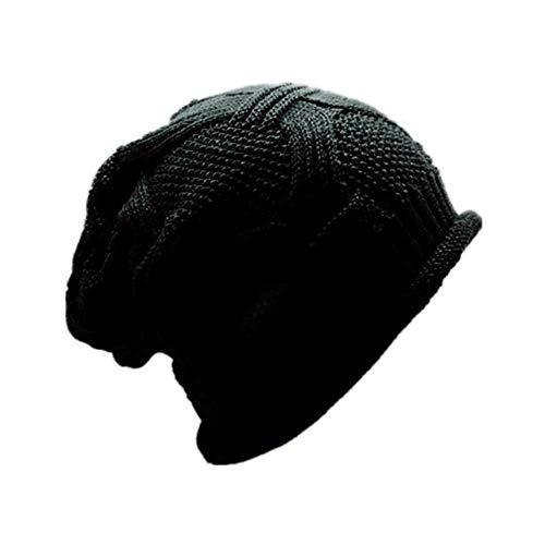 SXCYU Sombrero de Invierno Adultos Mujeres Hombres Gorros Holgados Gorros Tejidos a Crochet Gorro de Punto Soild Knit Ski Beanie Skull Slouchy Caps Sombrero, Verde