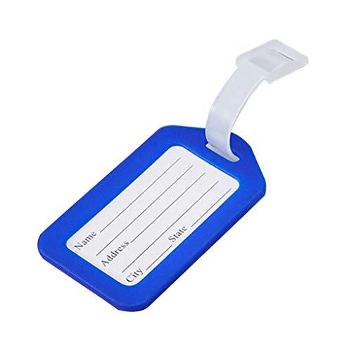 zhibeisai 10 unids Boarding de plástico Verificación Equipaje Viaje Maleta Cuello Tag...