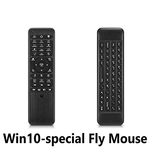 Pepper Jobs Air Fly Mouse Remote Control for Windows 10 Mini PC HTPC, LED Backlit QWERTY Keyboard, 6-Axis Gyroscope, IR Learning, 2.4GHz Wireless