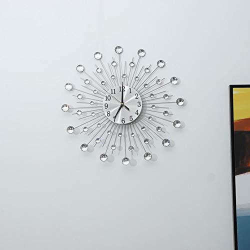 N/ A Wandklok van ijzer in bloemenvorm Wandklok met strass-steentjes Wandklok van ijzer met strass