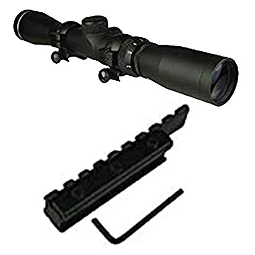 Gotical Sports Long Eye Relief Rifles P4 Scope 2-7X32 Fog and Water Resistant + Low Profile Mosin Nagant 11mm Picatinny Rail Adapter Converter 91/30 Model Scope Weaver Mount Compact Short Durable