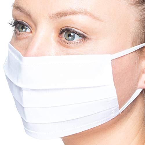Maske weiß | Mund-Nase-Abdeckung Staubmaske Gesichtsmaske | Handarbeit | atmungsaktiv | Face Cover Mask | handmade | breathable
