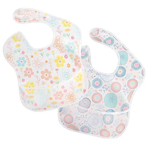 NA. Nangjiang Baberos de bebé, conjunto de 2 baberos impermeables unisex baberos para bebés de 6 a 24 meses