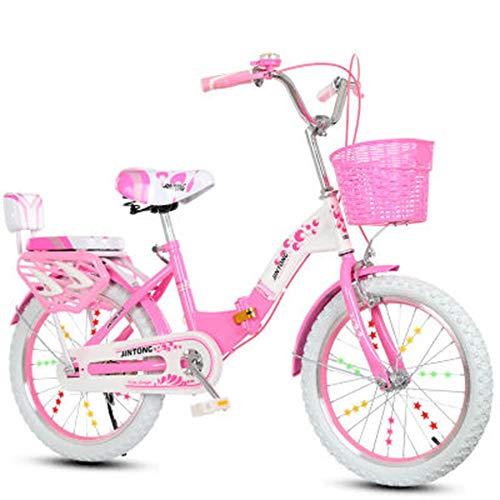 Lyq&st Kinder Mountainbikes, Tresor Und Sensible Bremsen/Anti-Blockier-System Verschleißfeste Reifen/Safe Tragender/Easy Folding Falträder, All-Inclusive-Kettenschutz/Sicherheit Netz-Entwurf, 20 Zoll