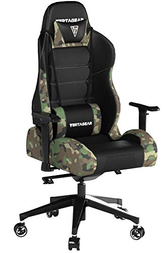 Product Image 8: Vertagear P-Line 6000 Racing Series Gaming Chair, X-Large, Black/Camouflage