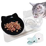 Application: convient à vos chiens, chats, chiots et chatons, parfait pour tenir des croquettes sèches, de la nourriture humide, des friandises ou de l'eau Taille: Bol: L * W * H: 27,5 * 14 * 14cm (10,83 * 5,51 * 5,51 pouces); Scoop: L * W: 14,7 * 5,...