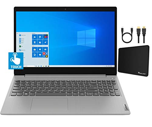 2021 Lenovo IdeaPad 3 15.6-inch HD Touchscreen Laptop Computer, Intel Quad-Core i5-1035G1 Up to 3.6GHz, 12GB DDR4 RAM, 512GB SSD, Bluetooth Webcam, WiFi, HDMI, Windows 10 w/Tigology Accessories