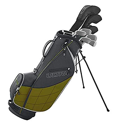 Wilson Golf Ultra Men's 9-Club, Right-Handed Set w/Bag Complete Set and Cover, Gray & Green