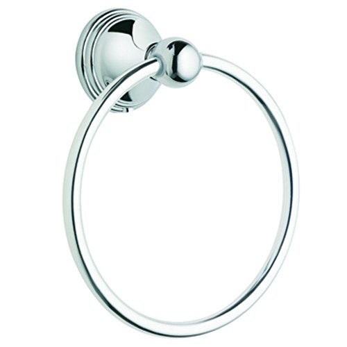 Moen Collection DN8486CH Preston Bathroom Towel Ring, Chrome, Small