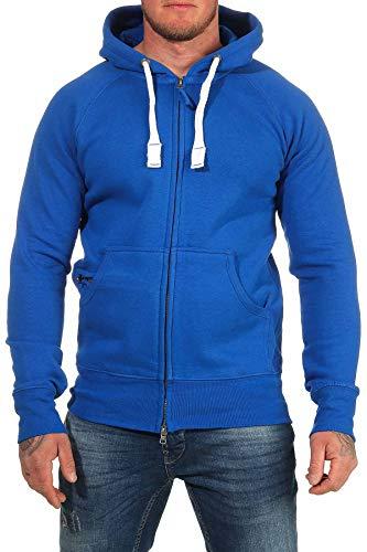 Happy Clothing Herren Kapuzenjacke mit Zip, Größe:4XL, Farbe:Blau