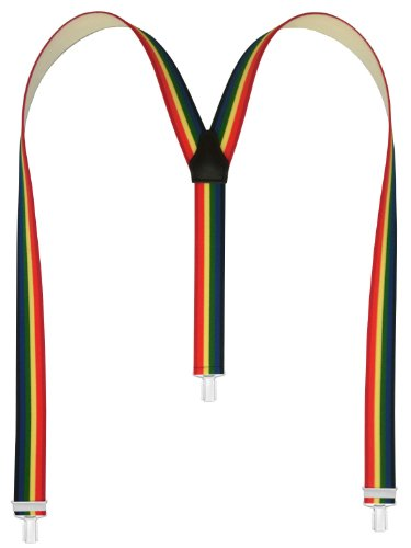 Xeira Herren 3 Clips Hosenträger in Verschiedenen Mustern (110cm), Regenbogen Style 128