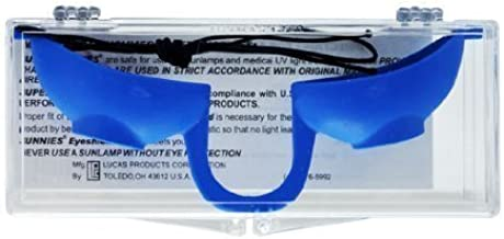 product image for BLUE Super Sunnies UV Eye Flexible Tanning Bed Goggle EVO COLOR Tan SINGLE by Lucasol