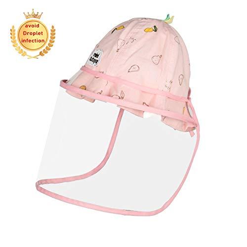 MALY Cap bébé Anti Enfants, Go Out Home Essentials Boy Bonnet de Douche Protection de Baseball Maman Non Leaking pour prévenir Gouttelettes Anti Fog Cap UV,Pink b,50cm