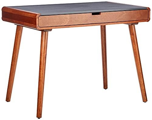 Christopher Knight Home Peninah Mid-Century Rubberwood Writing Desk, Charcoal Grey / Medium Brown