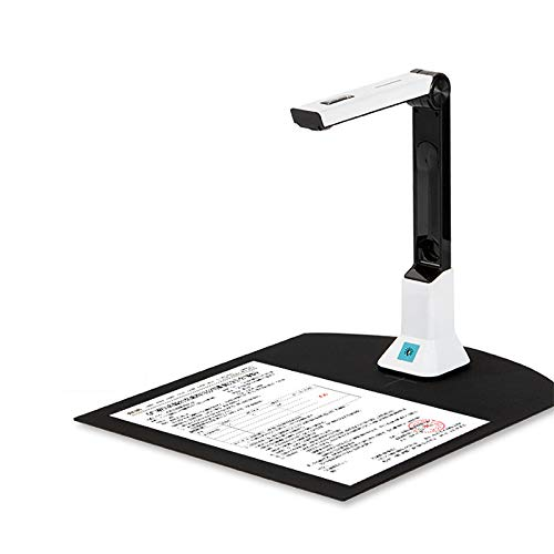 Portable High Definition Scanner,Document Camera with OCR Function LED Light for Classroom Office Library Bank