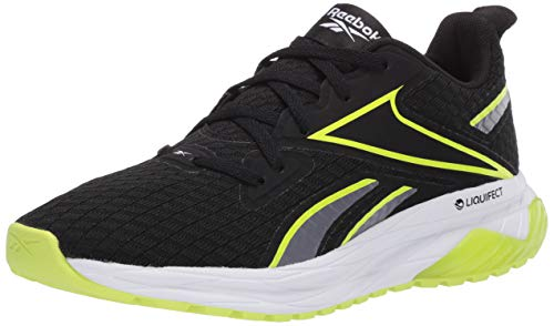 Reebok Men's LIQUIFECT 180, black/cold Grey/Solar Yellow, 9 US medium