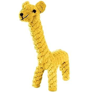 Baby Pet Ainimo Puppy Jouet Corde l'Ennui, Coton Naturel Dents de Nettoyage à mâcher Jouet Petit Chien (Girafe)