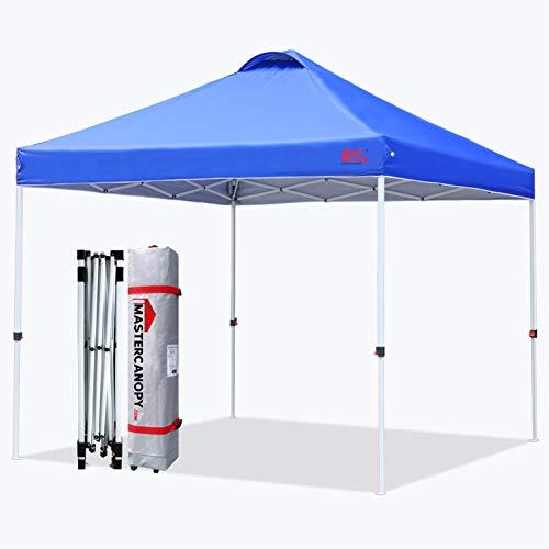 マスターキャノピー(MASTERCANOPY)ワンタッチタープテント 2M/2.5M/3M 三段階調節 スチールフレーム 風抜けベンチレーション 耐水 UVカット サンシェード 日除け 商用 アウトドア用(キャスターバッグ ペグ ロープ ウェイトバッグ付き
