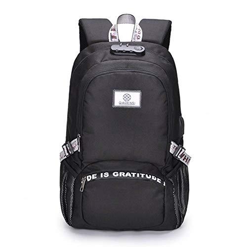 DQZOL Daypack Großer Rucksack Männer Frauen Rucksack USB Lade Kopfhörer Design Rucksack Tastensperre Diebstahl Laptop Tasche Jungen Mädchen Schultaschen