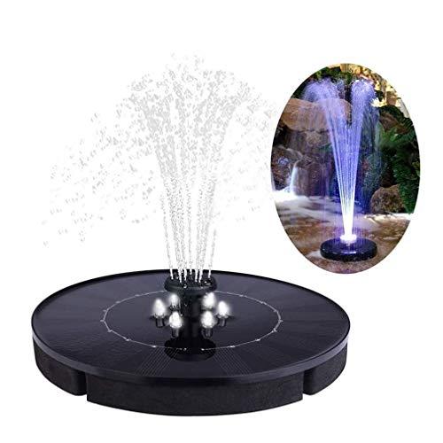 TIM-LI Solar Vogel Bad Brunnenpumpe Mit LED-Leuchten - 2,5 W 600 Mah Batterie Freistehende Solarbetriebene Wasserpumpe, Für Aquarium/Pool/Garten