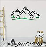 YXBB Sticker Mural Chambre de Montagne Gazon Herbe Stickers muraux Woodland Maternelle Home Art décoration détachable 56x22 cm