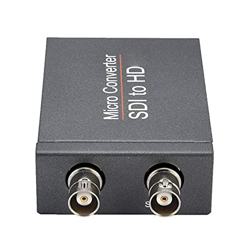 RUMUI NK-M008 Convertidor Micro SDI SDI a HDMI-Compatible/SDI a SDI Salida de 2 rutas Mini HD 1080P Convertidor Alimentado por USB