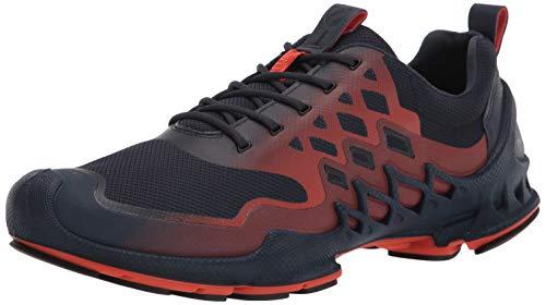 ECCO Men's Biom Aex Trainer Running Shoe, Marine/Fire Textile, Numeric_11_Point_5