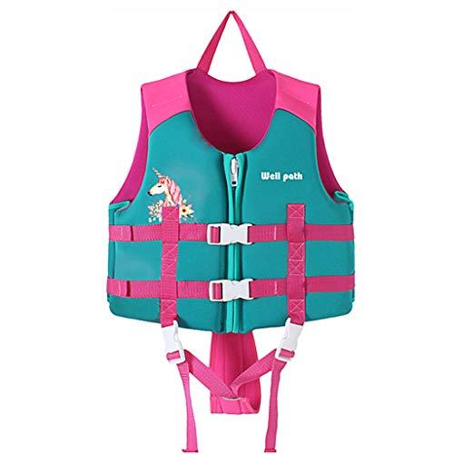 Gogokids Kinder Schwimmweste Schwimmanzug, Kleinkind Kinder Schwimmweste Auftrieb Badeanzug Jungen Mädchen Bademode Schwimmen Lernen, Pink L