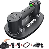 Grabo Two Battery Portable Electric Vacuum Suction Cup Lifter for Wood Drywall Granite Glass Tile Heavy Lifting Tool with Friction Foam Seal