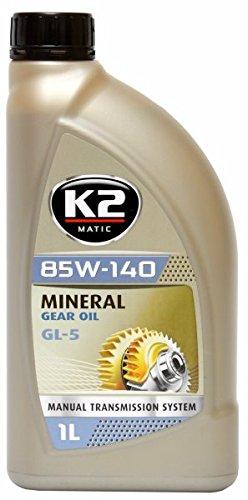K2 Getriebeöl GL5, 85W-140, Schaltgetriebe, Achsenöl, Hydrauliköl, mineralisch, universell einsetzbar, API konform 1L