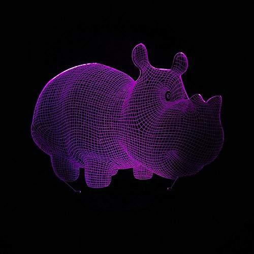 3d schwein wildschwein tier illusion nachtlicht 7 farben ändern tisch schreibtisch kind baby schlafzimmer nachttischlampe stimmung beleuchtung gits