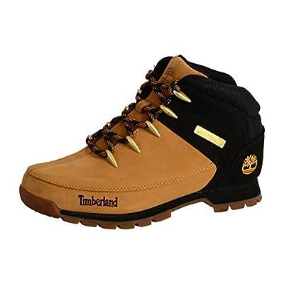 Timberland Men's Ankle Chukka Boots, Yellow Wheat Nubuck W Black, 41 EU