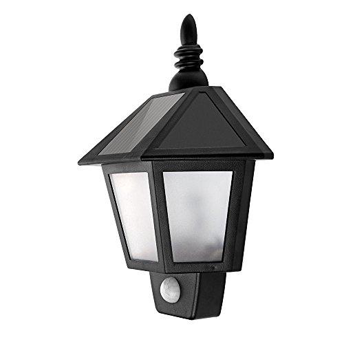 Outdoor warmwit koud wit ABS PS behuizingsmateriaal IP44 waterdicht zwart PIR sensor lamp voor huisverlichting LED Solar wandlamp 0,5 Watt 1 stuk zonnelampen voor buiten