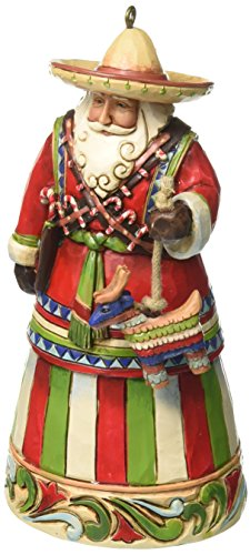 Jim Shore Heartwood Creek Mexican Santa Stone Resin Hanging Ornament, 4.5""